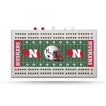 NEBRASKA HUSKERS FIELD CRIBBAGE BOARD