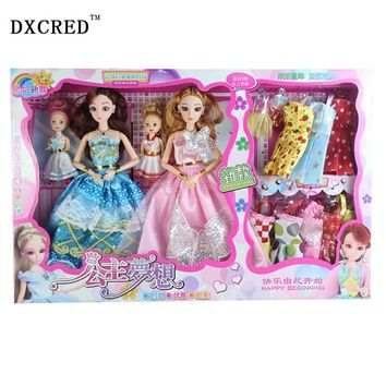 Girl's Favorite Princess Sweet Doll 76 Accessories 3D Supersize Eyes princess doll 12 Joint Moveable Cosplay Stright Curly Hair