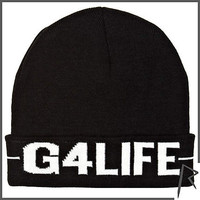 Black Rihanna G4LIFE beanie hat - hats / bags / scarves - rihanna for river island - women