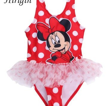 Hirigin 2017 New Baby Girls Kids Toddler Cute Mouse Swimwear Swimsuit Mickey Tankinis Bikini Set Summer Cothes 2-5Y SS