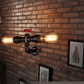 Retro Wall Lighting Lamp Vintage E27 Base Loft Iron Sconce Art Deco Industrial Bathroom Stair Antique Lamp Luminaria