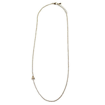 Off Center Initial Necklace