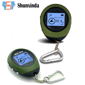 Mini GPS Trackers Receiver Handheld Location Finder USB Rechargeable with Electronic Compass for Outdoor Practical Travel Car