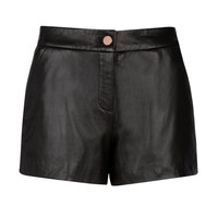 Leather shorts - Black | Trousers & Shorts | Ted Baker ROW