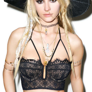 For Love & Lemons Wanted And Wild Bustier Black