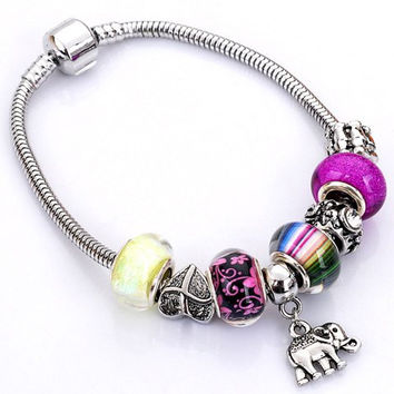 Bead Flower Heart Butterfly Elephant Bracelet