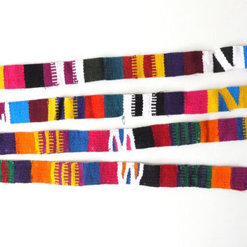 Tribal Pattern Fabric Trim Straps Colorful by sweetllamasupplies