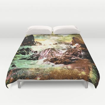 space mountains Duvet Cover by Haroulita