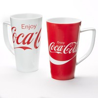 Coca-Cola Red & White 4-pc. Latte Mug Set (White/Red/Latte)