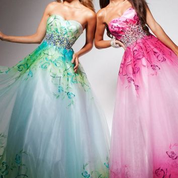 Strapless Tulle Dress by Tony B