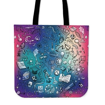 Rainbow Science Linen Tote Bag - Promo