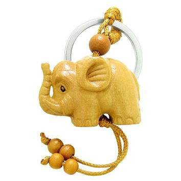 Amulet Cute Baby Elephant Good Luck Charm Protection Powers Feng Shui Magical Keychain Blessing