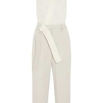 3.1 Phillip Lim - Silk crepe de chine and waffle-knit cotton jumpsuit
