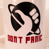 Hitchhiker's Guide to the Galaxy inspired coffee mug