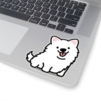 American Eskimo Decal, Corgi Sticker, Eskimo Decal, Eskimo Sticker, Vinyl Decal, Car Decal, Yeti Decal, Cup Decal, Window Decal, Sticker Decal, Animal Sitcker, Dog Sticker