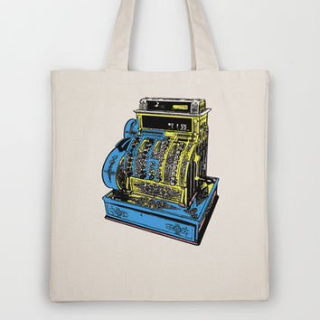 Vintage Cash Register Tote Bag by lush tart