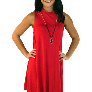 Make Your Mock Dress- Red | MACA Boutique