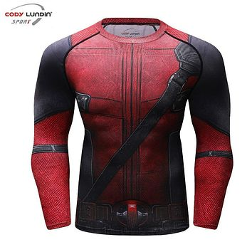 Deadpool Dead pool Taco Fun  2 3D Printed T shirts Men Compression Shirt 2018 New Arrival  Cosplay Costume Clothes Long Sleeve Tops Male AT_70_6