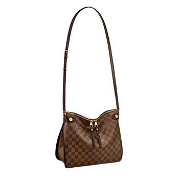 Louis Vuitton Damier Ebene Canvas Duomo Cross Body Shoulder Handbag Article:N41425 Made in France