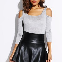 Cold Shoulder Cropped Tee