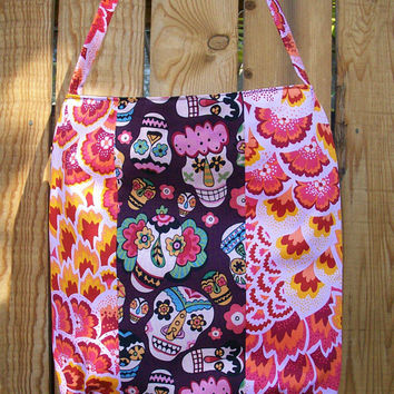 Alegria Happy Funny Faces Bag Pink and Purple LIght and Bright Shoulder Market Tote