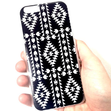 Black and White Aztec iPhone Case