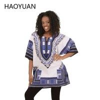 Women Dashiki Hippie Shirt Caftan
