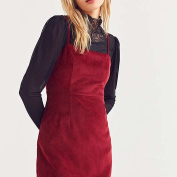 Cooperative Corduroy Straight-Neck Mini Dress   Urban Outfitters