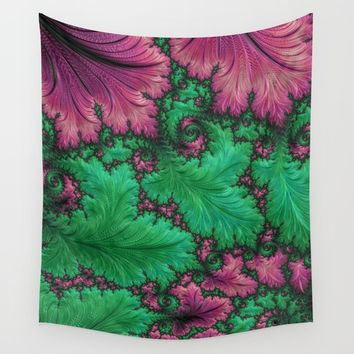 Fern Fractal Wall Tapestry by Lyle Hatch
