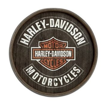 Harley-Davidson Barrel End Wooden Sign, 28 diameter. 99235-13V