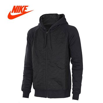 Original New Arrival Official Nike Hooded Jacket Mens Jordan Sports Outdoor Hoodie Jacket Black