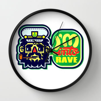 I'm Into Rave Wall Clock by chobopop