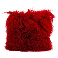mina victory fur red pillow - Google Search