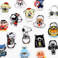 1 Piece Cute Cartoon  Mobile Phone Holder Stand High Quality Metal Mobile Phone mobile Finger Ring