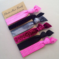 The Shelby Hair Tie Collection - 6 Elastic Hair Ties by Elastic Hair Bandz on Etsy