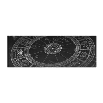 Astrological Natal Chart Constellation Yoga Mat