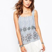 New Look Printed Neck Cami