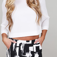 White Summer Crop Top By BB Dakota