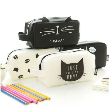 cat pencil case kawaii school supplies kalem kutusu etui pencilcase estuche escolar estuches para lapices estojos de escola