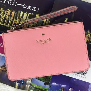 ICIKHI2 Kate Spade Simple Zipper Wrist Bag Handbag Wallet Tagre-