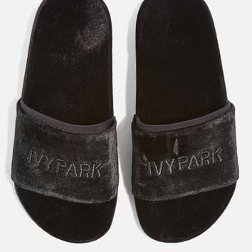 Velvet Embossed Sliders by Ivy Park