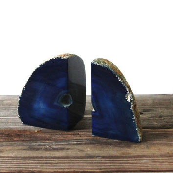 Vintage Geode Bookends by vntagequeen on Etsy