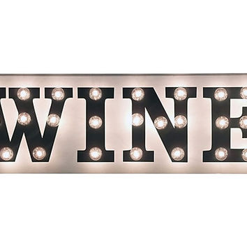 One Kings Lane - Off the Wall - 42x13 Marquee Light-Up Wine Sign
