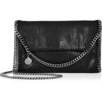 Stella McCartney - The Falabella mini snake-effect faux leather shoulder bag