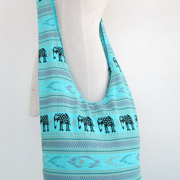 Hill Tribe Shoulder Bag Boho Hippie CrossBody Messenger Elephant Travel Bag # 12