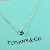 Tiffany & Co. Natural Aquamarine clavicle Necklace