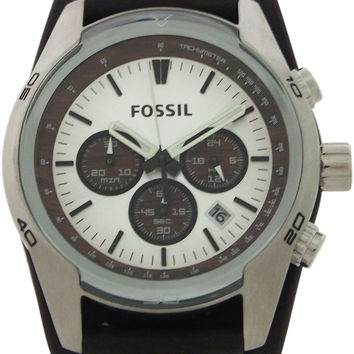 fossil - ch2565p coachman chronograph brown leather watch