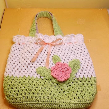 Crocheted bag, OOAK,
