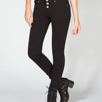 Almost Famous Womens Highwaisted Skinny Pants Black  In Sizes