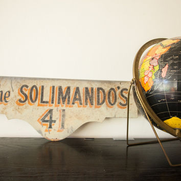Vintage Deco Double Sided House Sign Solimandos